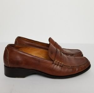 Cole Haan Brown Leather Penny Loafers